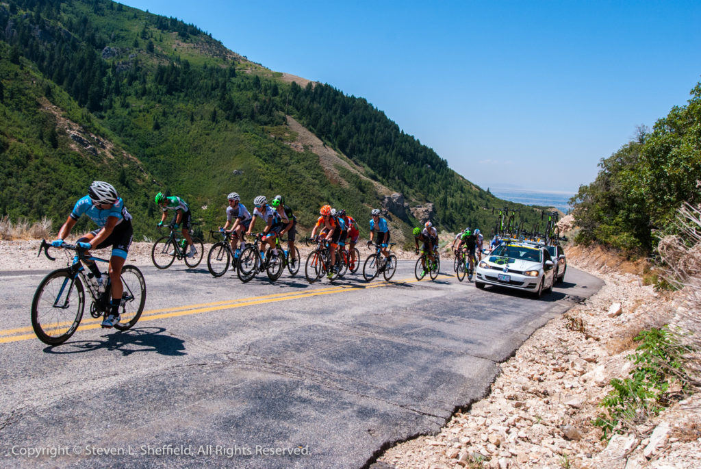 What's going on back there? 2017 Tour of Utah Stage 2 from Brigham City to Snowbasin. Photo by Steven Sheffield