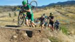 Rail-road-tie run-up Moose Cross Cyclocross festival