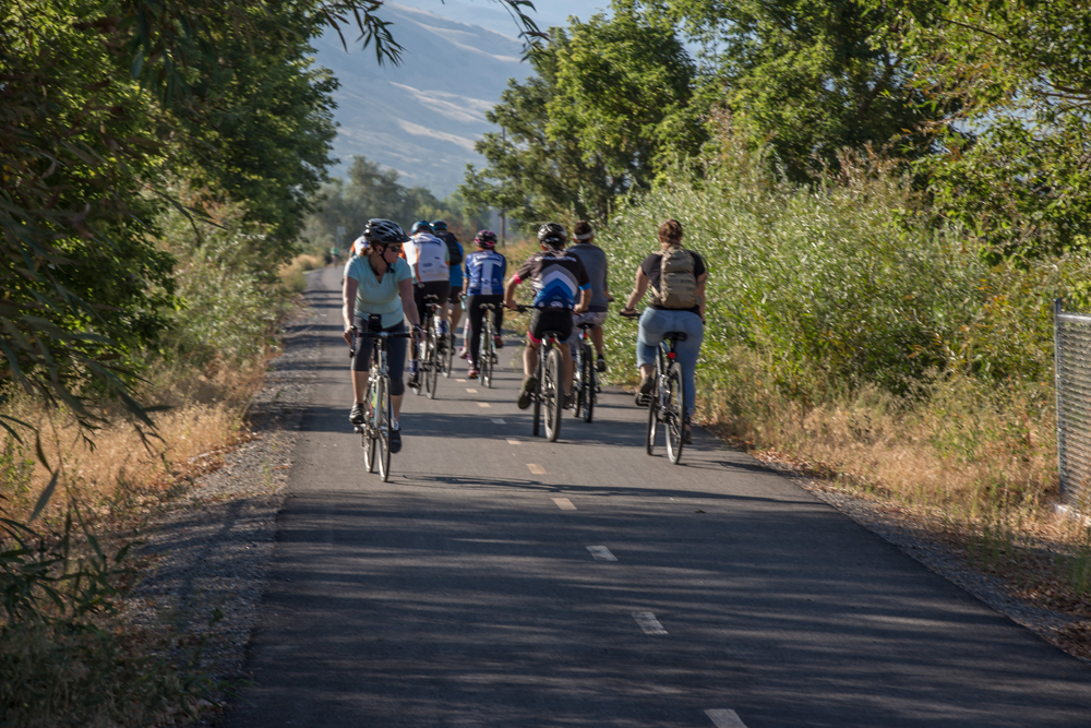 The Parkway Pedal travels along the Jordan River Parkway and Legacy Parkway Trails from Farmington to Salt Lake City. Photo by Garrett Jensen, Photo Courtesy Parkway Pedal