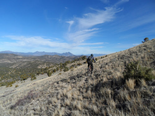Part of the trail that will be used for the Race the Rails event in Ely, Nevada on September 9, 2017. Photo courtesy White Pine County Tourism & Recreation Board.