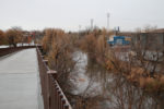 The Jordan River, as seen from the new bridge. Photo by Dave Iltis