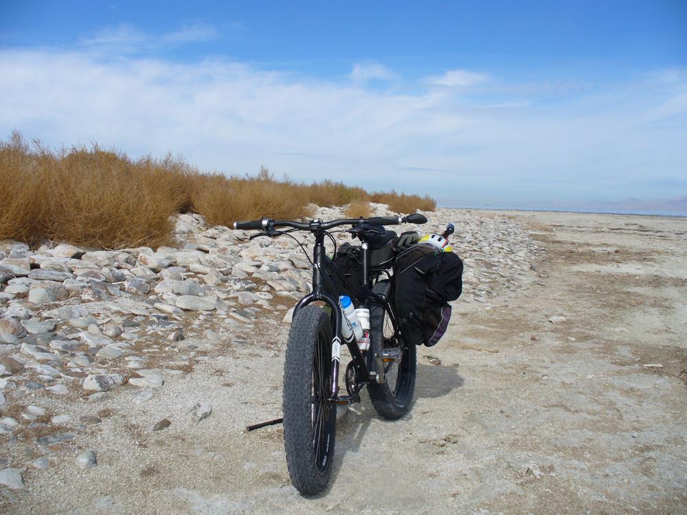 Fat Bike Stansbury Island Utah