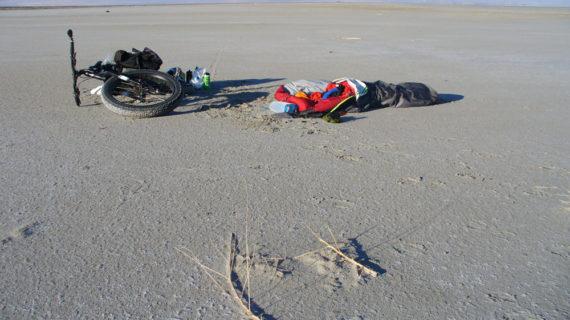 Fat Bike Around the Great Salt Lake on the Shoreline: An Exploratory Foray
