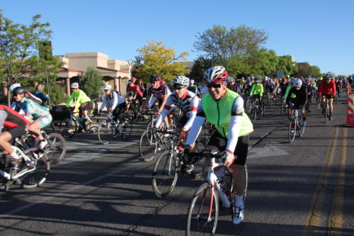 The start of the Santa Fe Century in 2017. The ride will feature a new course in 2018. Photo by David Nelson, courtesy Santa Fe Century
