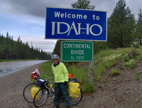 Bicycle Rider in Yellowstone