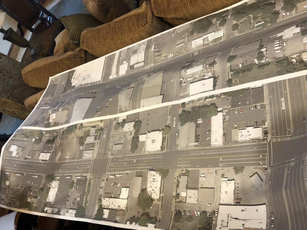 A potential new configuration is coming to 1700 S in 2019 with more parking and enhanced bike lanes. Photo by Dave Iltis