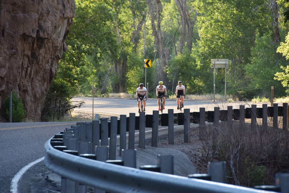 Riders in Clear Creek Canyon in Sevier County. The Rooster Ride will feature this canyon. Photo by Kirk Rasmussen