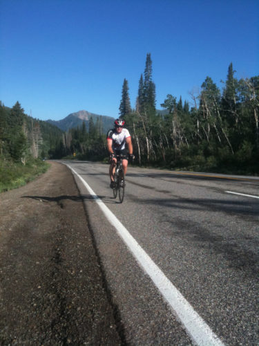 A rider tackles Big Cottonwood Canyon. Photo by Dave Iltis