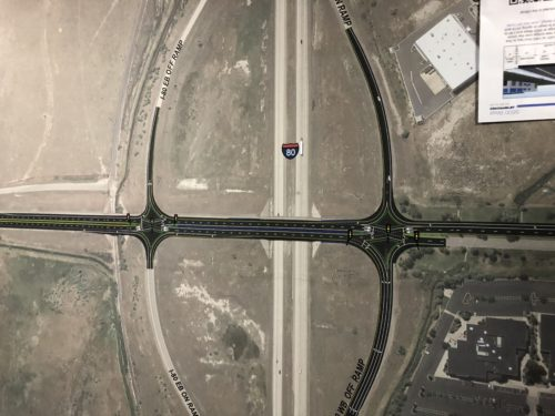 The 5600 W and I-80 Interchange will be converted to a Diverging Diamond Interchange. There appears to be no safe way for cyclists or pedestrians to navigate the DDI.