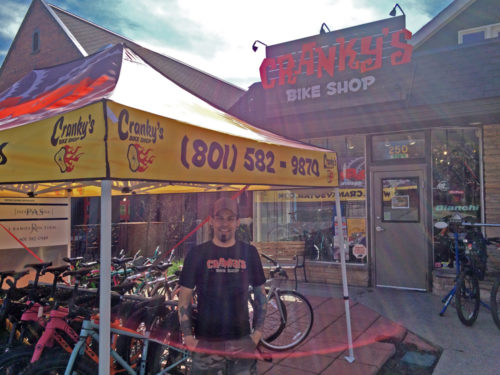 Cris Pereira of Cranky's Bike Shop wants you to know why it's important to buy from your local shop. Photo by Dave Iltis