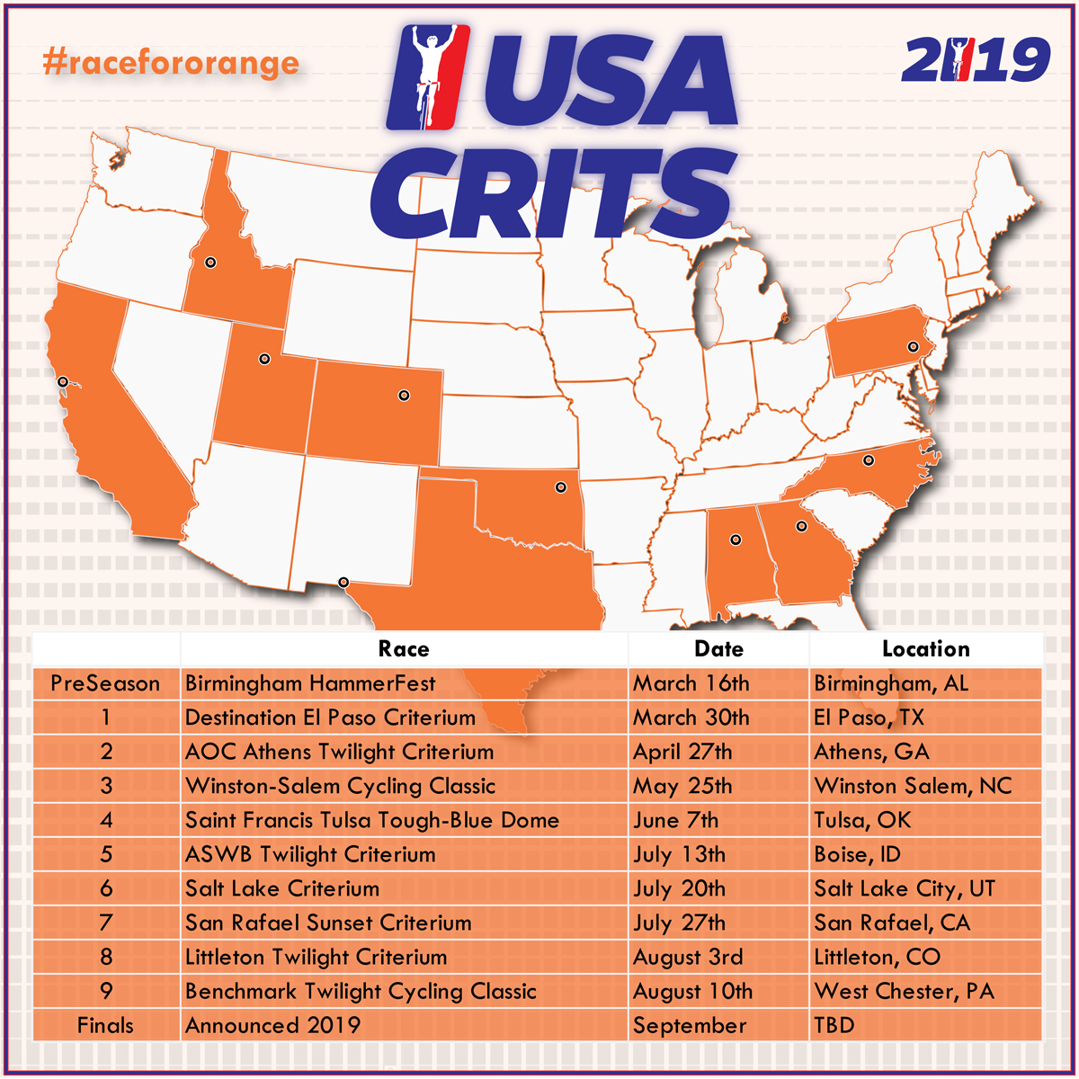 USA Crits 2019 schedule  - Cycling West - Cycling Utah