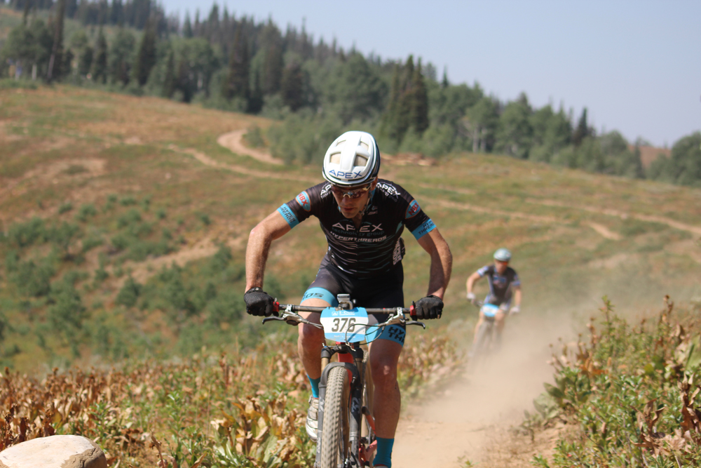 Justine Lindine won the overall season points series in the Pro Men's category in the 2018 Intermountain Cup. Photo by Nate Gibby