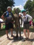 Jess and Chuck with Captain Kirk. RAGBRAI 2018. Photo courtesy Jess Galaviz