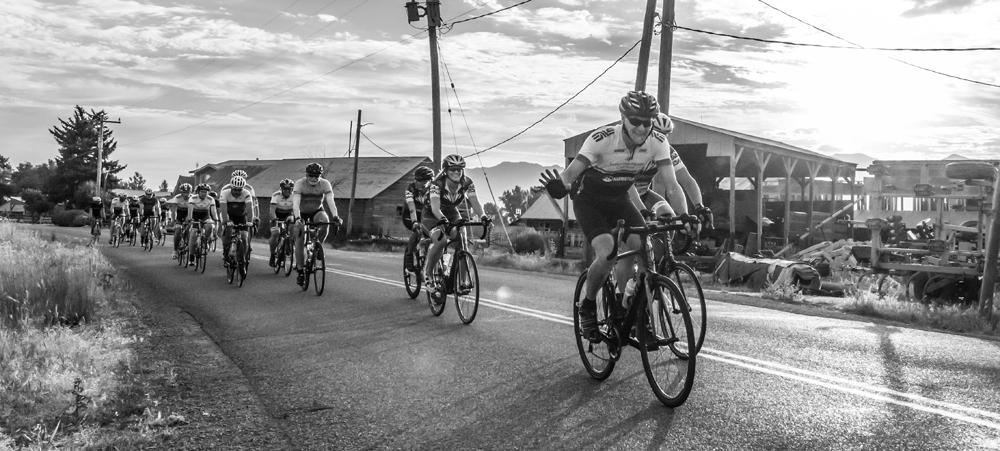 Riders in the Cache Gran Fondo, 2018. Photo by Gary Bird, courtesy Cache Gran Fondo