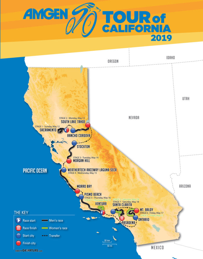 Amgen Tour of California Route Announced