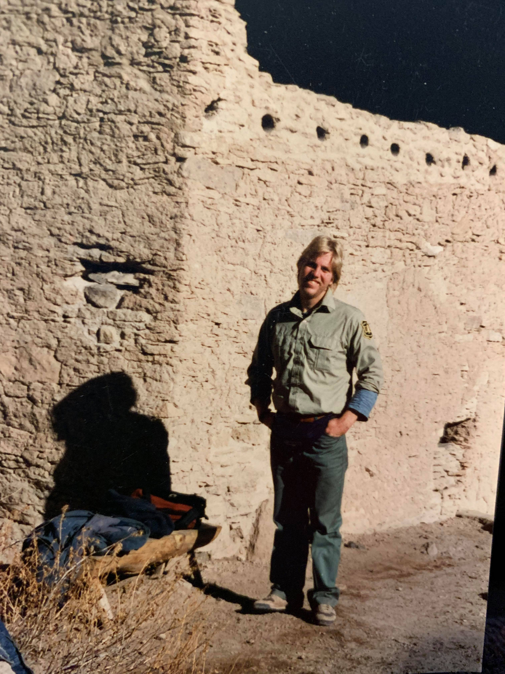 Joe Kurmaskie in 1990 during his stint as a seasonal ranger for the National Forest Service at the Gila Cliff Dwellings in New Mexico. Photo by Dale