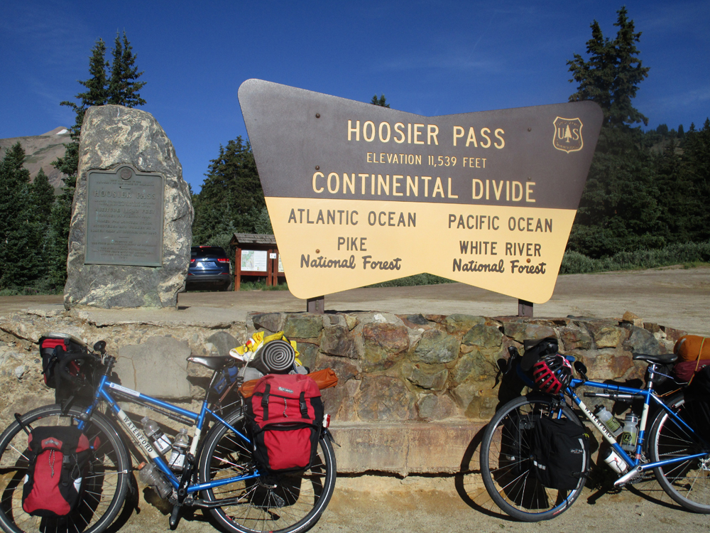 Hoosier Pass Colorado. It's downhill from here to the Kansas border. Photo by Julie Melini
