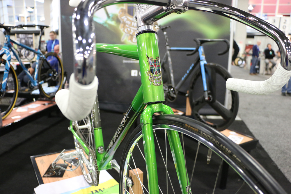 This Don Walker handmade track bicycle was one of hundreds of incredibly beautiful handcrafted bicycles at the 2017 NAHBS. Photo by Dave Iltis