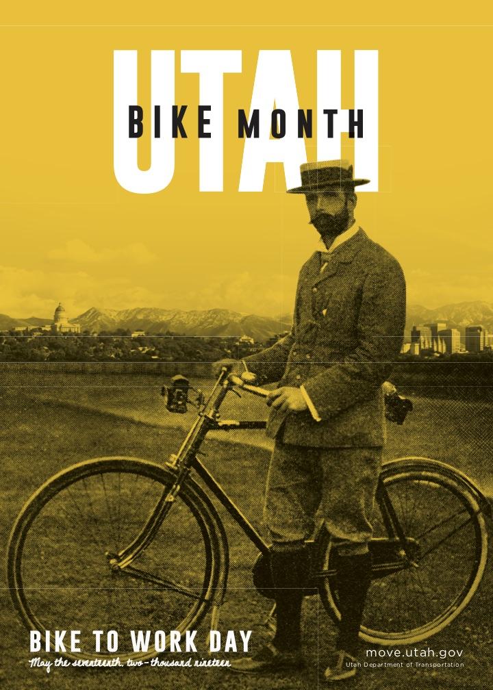 The 2019 Utah Bike Month Poster