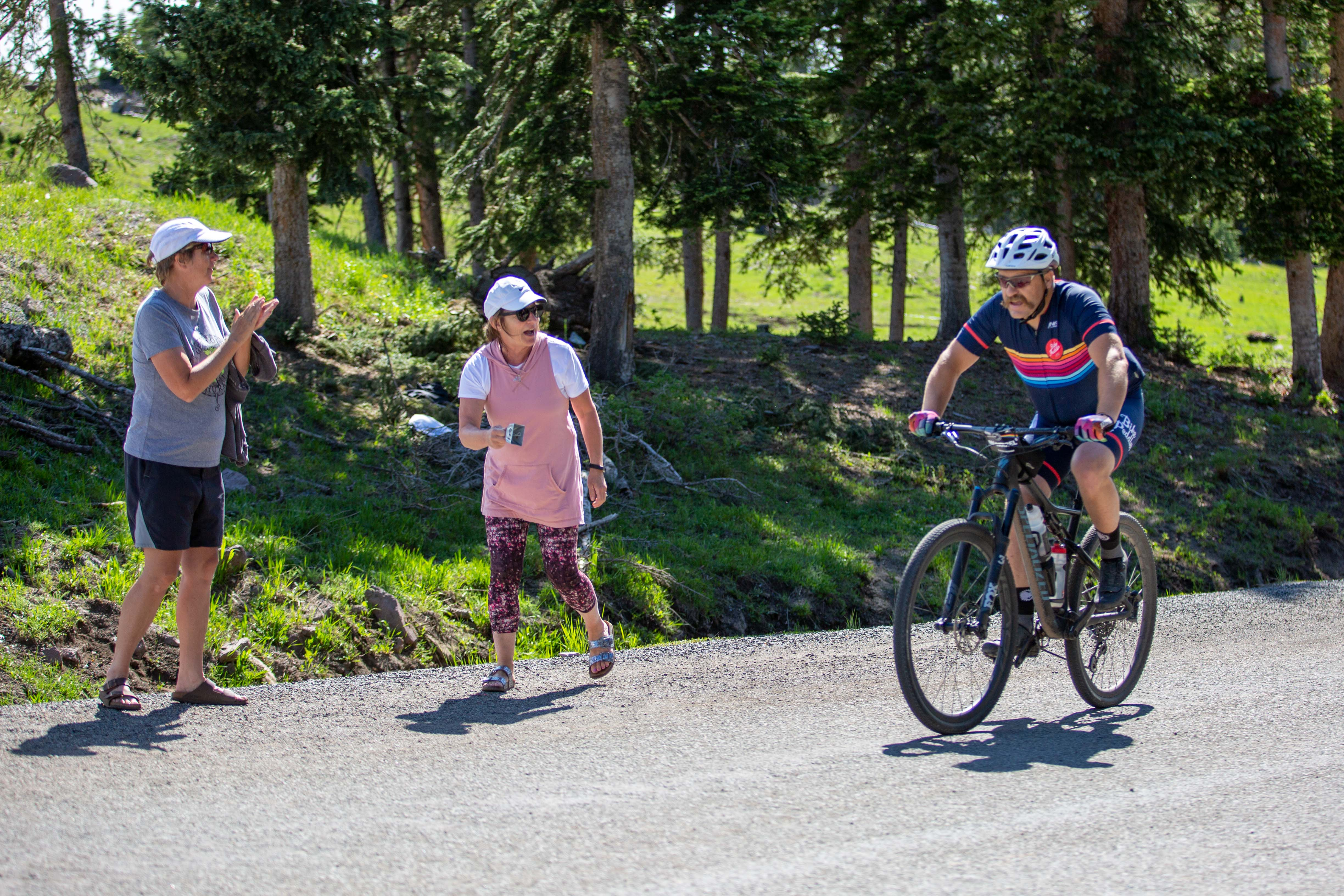 Sometimes, even when you're the last rider on the road like Josh McCarrel, it's about finishing your ninth consecutive Crusher in the Tushar ... Photo: Angie Harker.