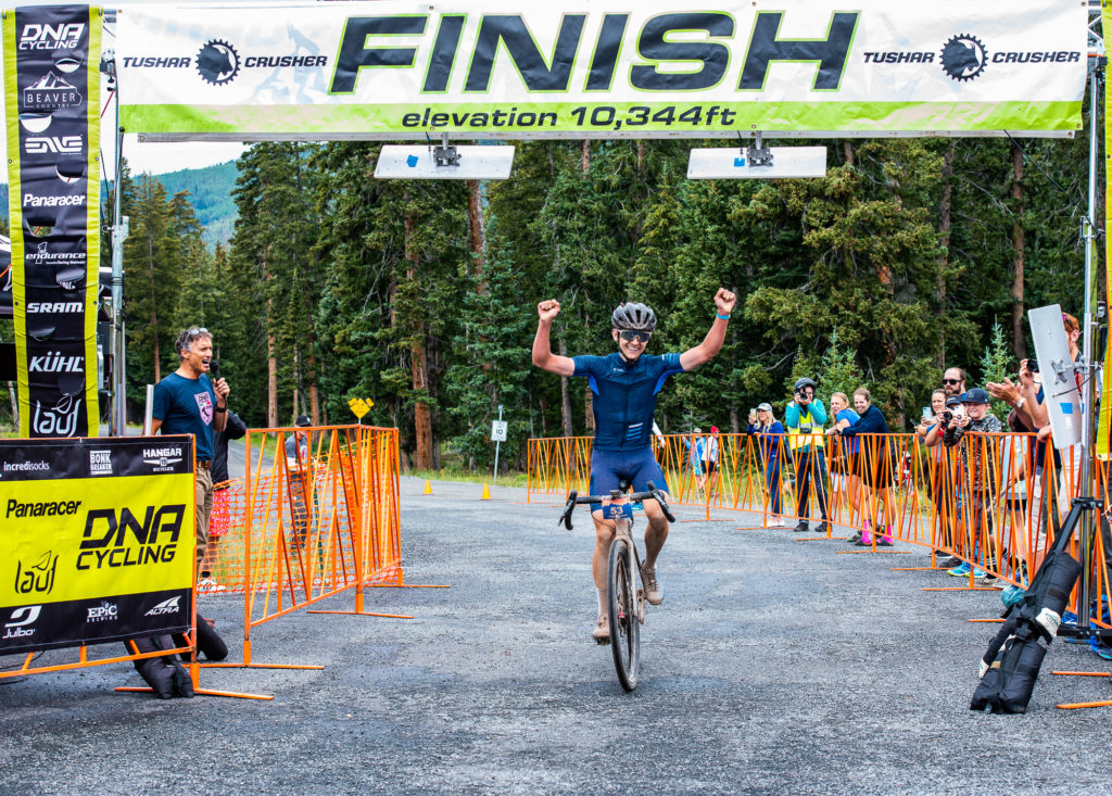 Zach Calton takes a solo win in his first attempt. 2018 Crusher in the Tushar. PC: Steven L. Sheffield