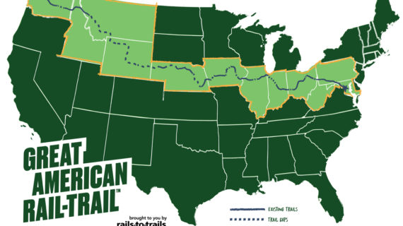 Great American Rail-Trail Planned for Cross Country Cycling