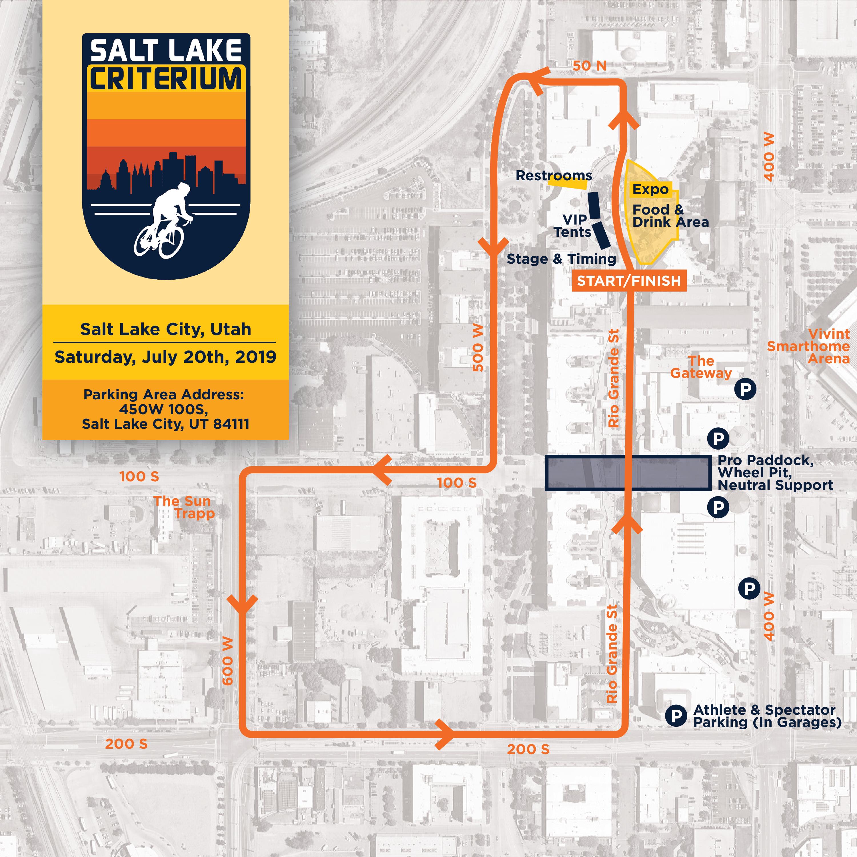 Salt Lake Criterium Map
