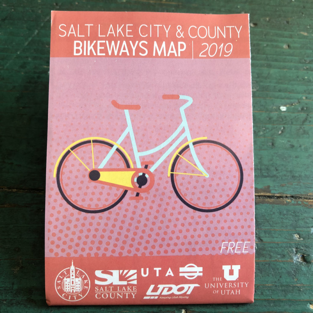 Salt Lake City's 2019 Bike Map is available for free in bike shops and other locations in Salt Lake County. Photo by Dave Iltis