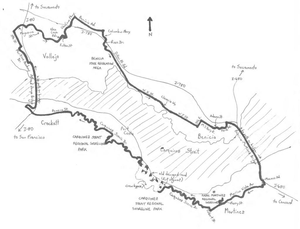 Carquinez Bridge Map