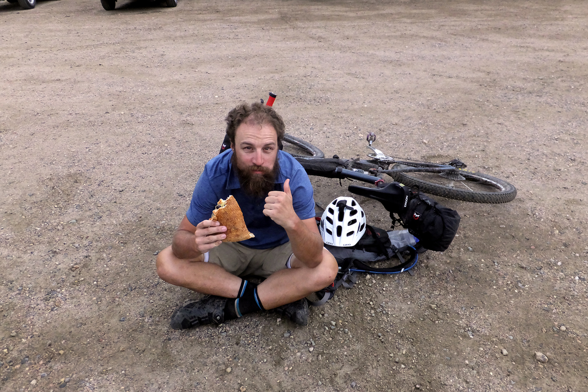 Adam Lisonbee, after 6 days, 15 hours and 550 miles, is all smiles. Photo courtesy Adam Lisonbee