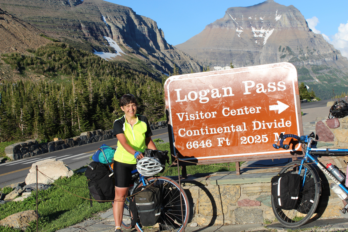 Julie at Logan Pass, Going to the Sun Highway, Glacier National Park. She made it!!! –check that off the bucket list!