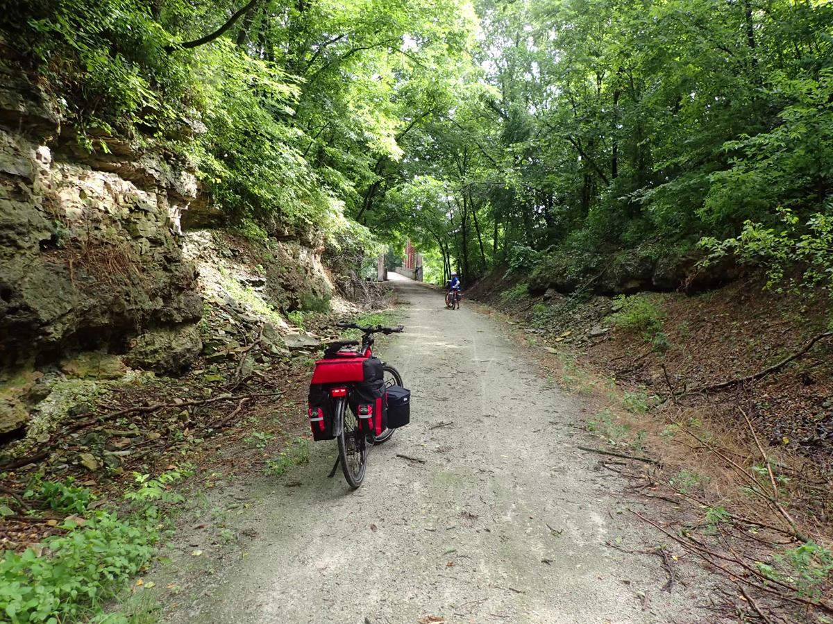 Here is how the KATY Trail looks, lots of shade to be sure. Photo by Roger Crandall