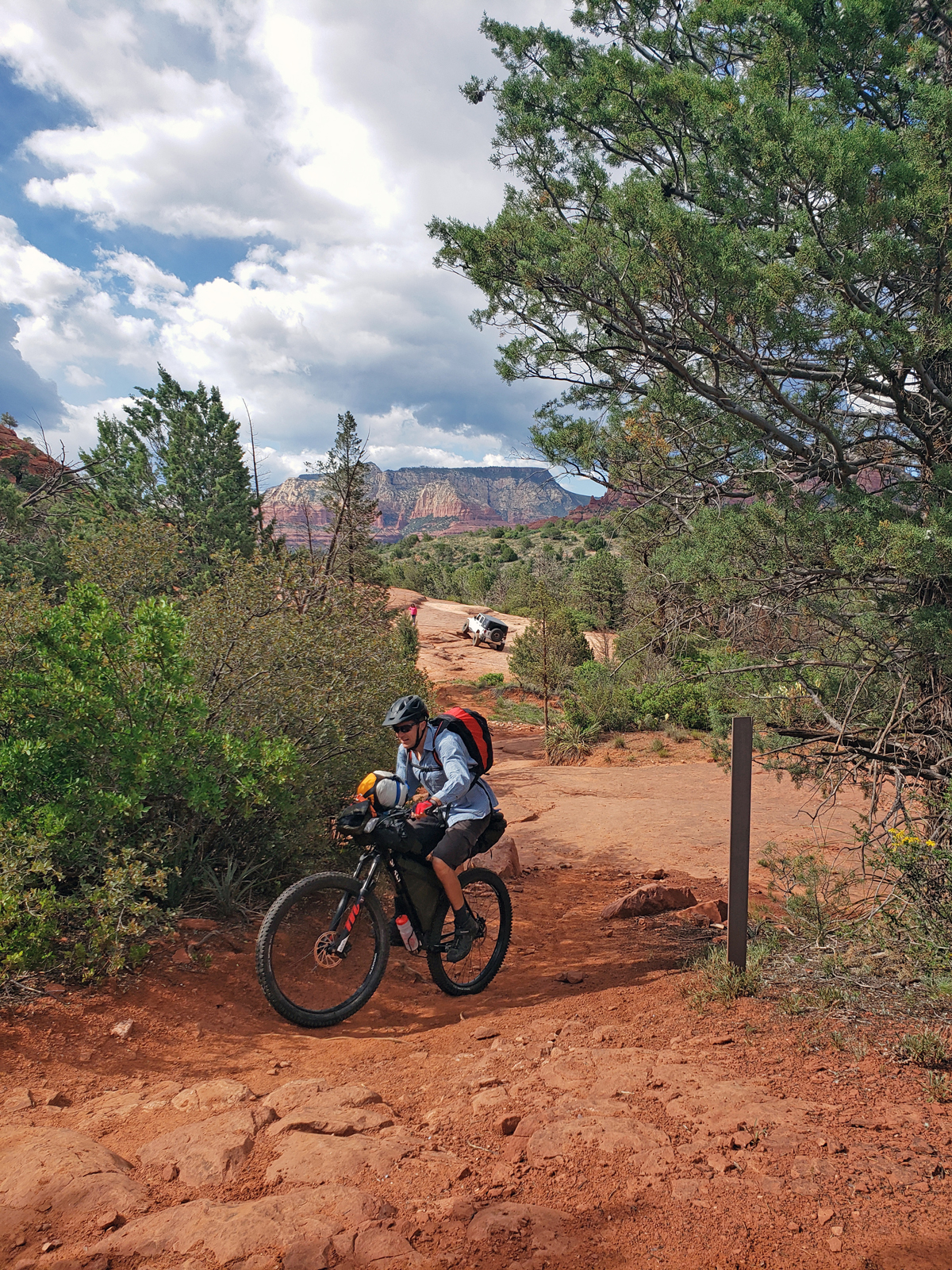 The first section interweaved with ATV routes. We were a little apprehensive about parking in the popular lot, but we happily returned to an intact vehicle. On the Coconino Loop. Photo by Patrick Walsh