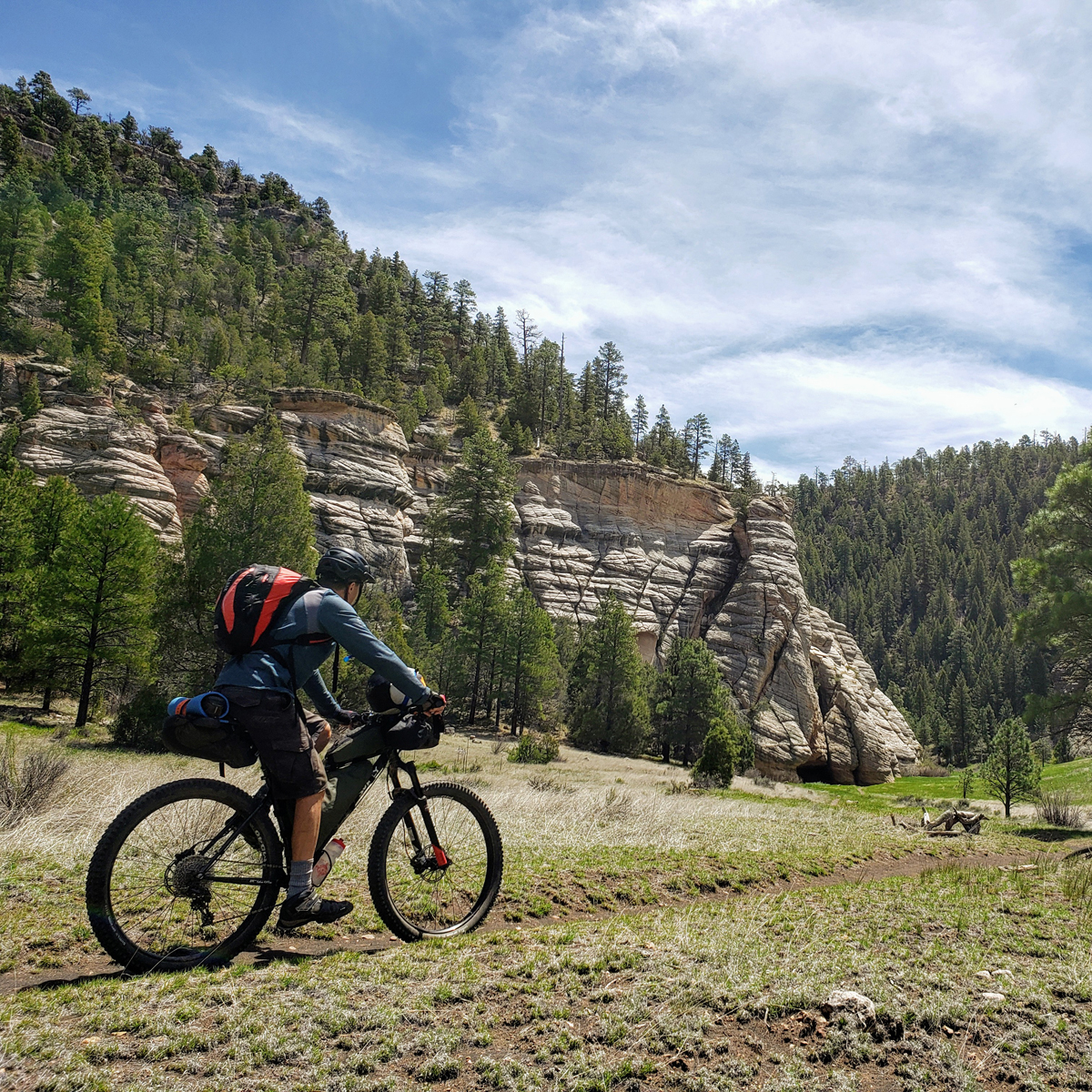 Walnut Canyon section was perhaps the most desolate of riding – not another person for a few hours. On the Coconino Loop. Photo by Patrick Walsh