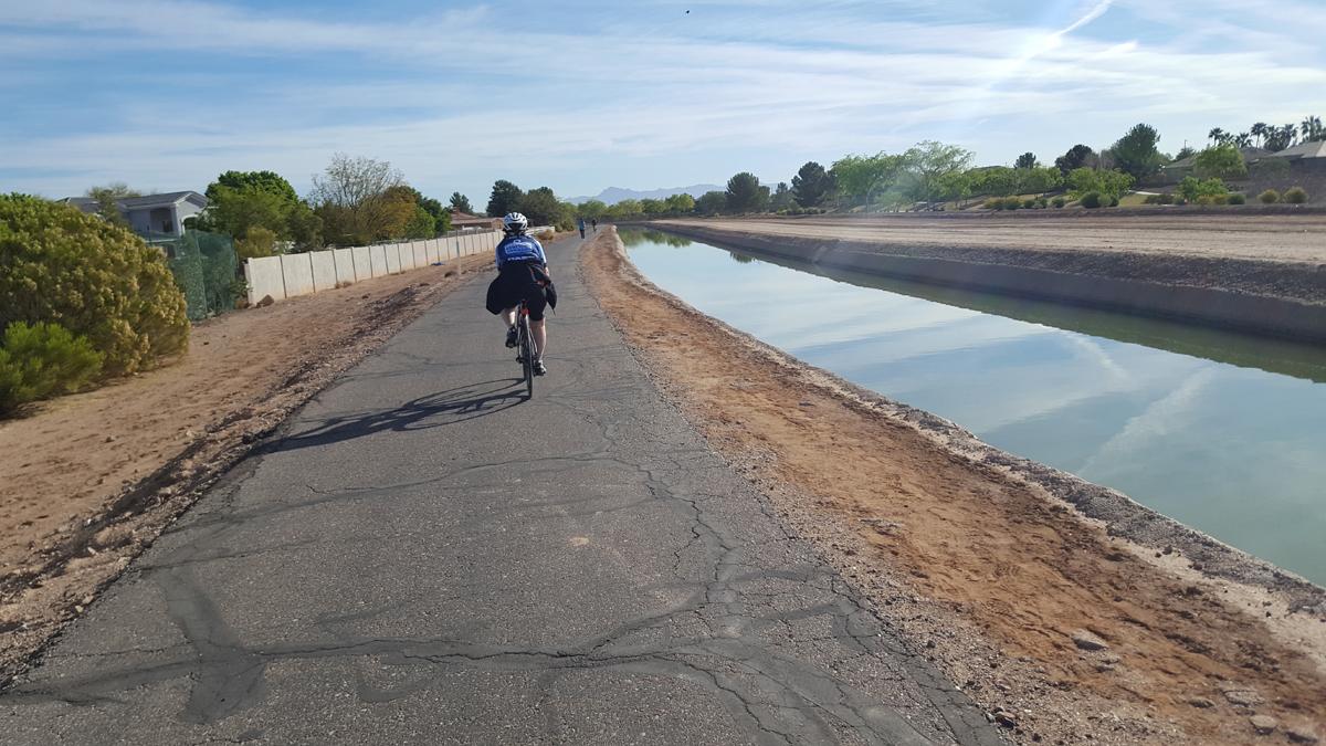 Karma Ward on a Phoenix canal trail. Photo by David Ward