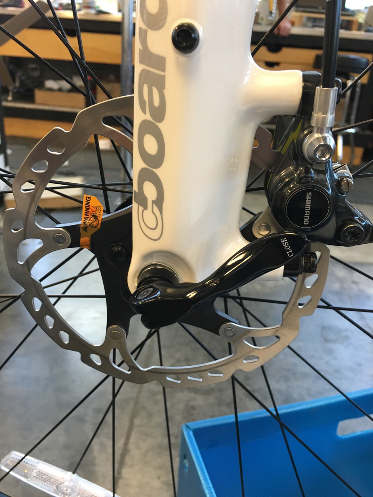 Road disc brakes require a different design for the front fork.