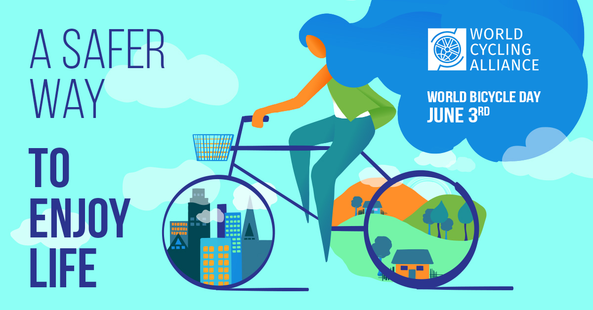 The United Nations' World Bicycle Day is celebrated each year on June 3.