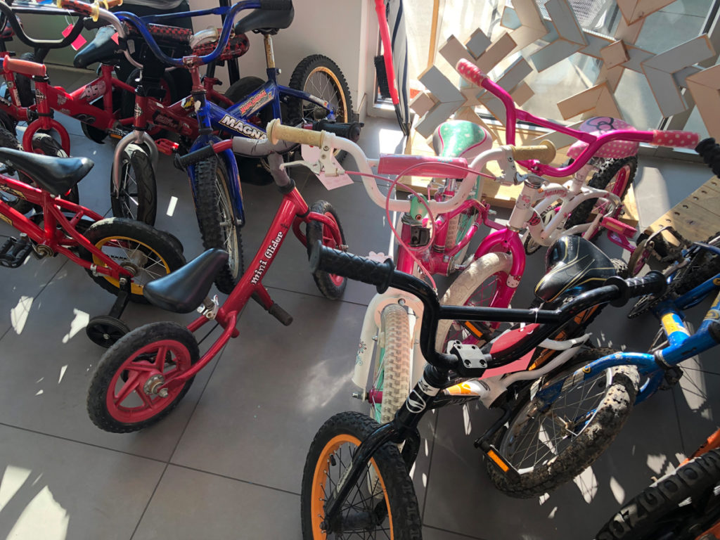 Some of the bikes collected at previous events. Photo courtesy Free Bikes 4 Kidz
