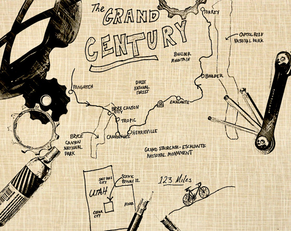 A map of the Grand Century, through the Grand Staircase area. Map by David Collins