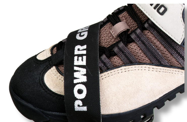 A Power Grip with the foot in the pedal. Photo courtesy MRP