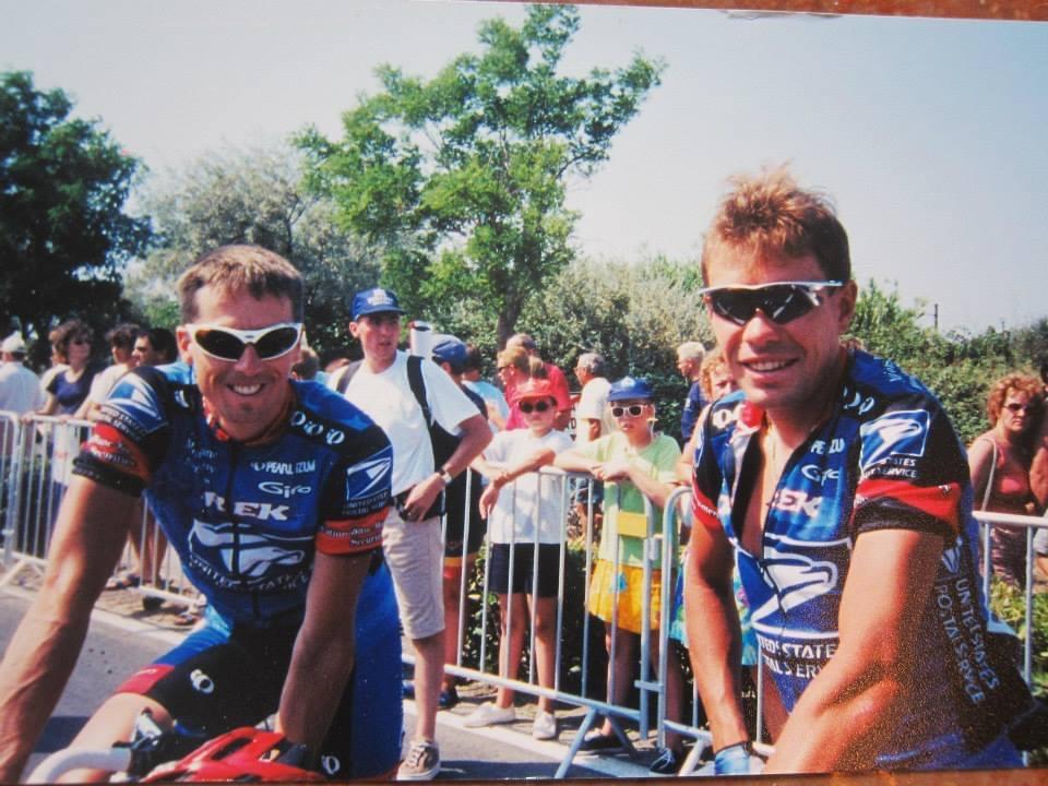 Marty Jemison and Viatcheslav Ekimov. Photo coutesy Marty Jemison