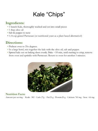 Kale Chips recipe, courtesy Breanne Nalder-Harward