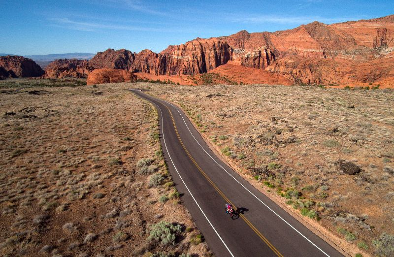 St. George, Utah, home of the Intermountain Healthcare IRONMAN 70.3 North American Championship St. George scheduled for May 1, 2021  (Photo by Donald Miralle/Getty Images for IRONMAN)