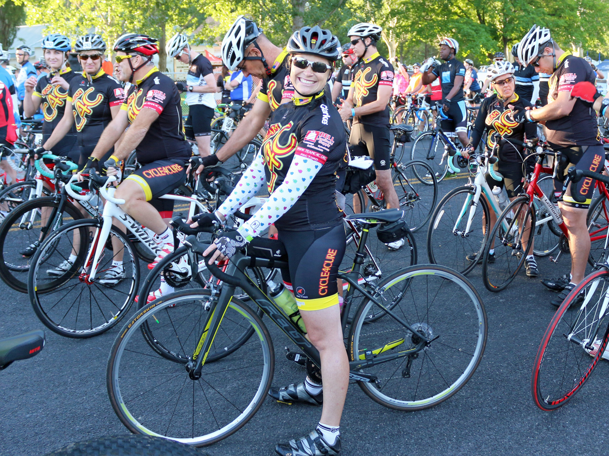 The excitement of the start. Jamie Morningstar and Team C4C at Bike MS 2015. Photo by Stephen Morningstar
