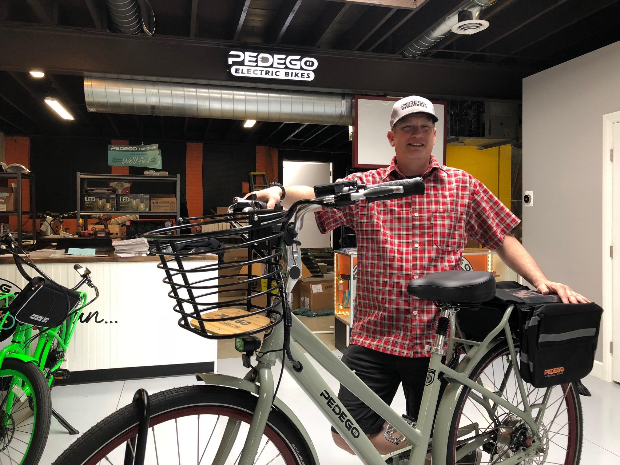 E-Bikes cause smils at Pedego in Salt Lake City. Photo by Dave Iltis