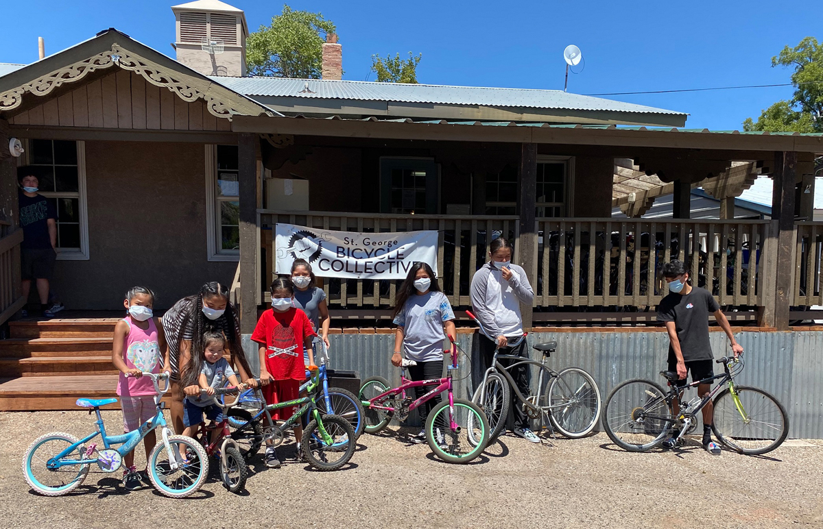 Giving Tuesday at the St. George Bicycle Collective. Photo by Essen Skabelund