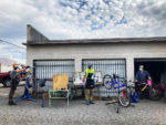 Some of the volunteers at the Bicycle Collective. Photo by Essen Skabelund
