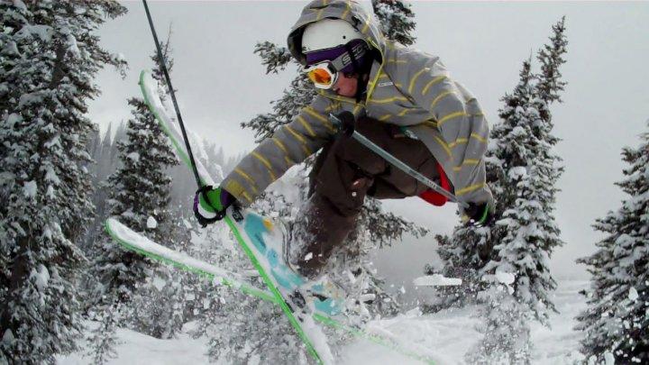 Louis Holian skiing. Photo courtesy Ally Marringa.