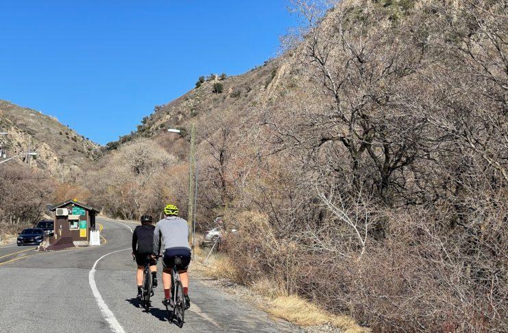 Cyclists climbing Millcreek Canyon. Photo by Lisa Hazel