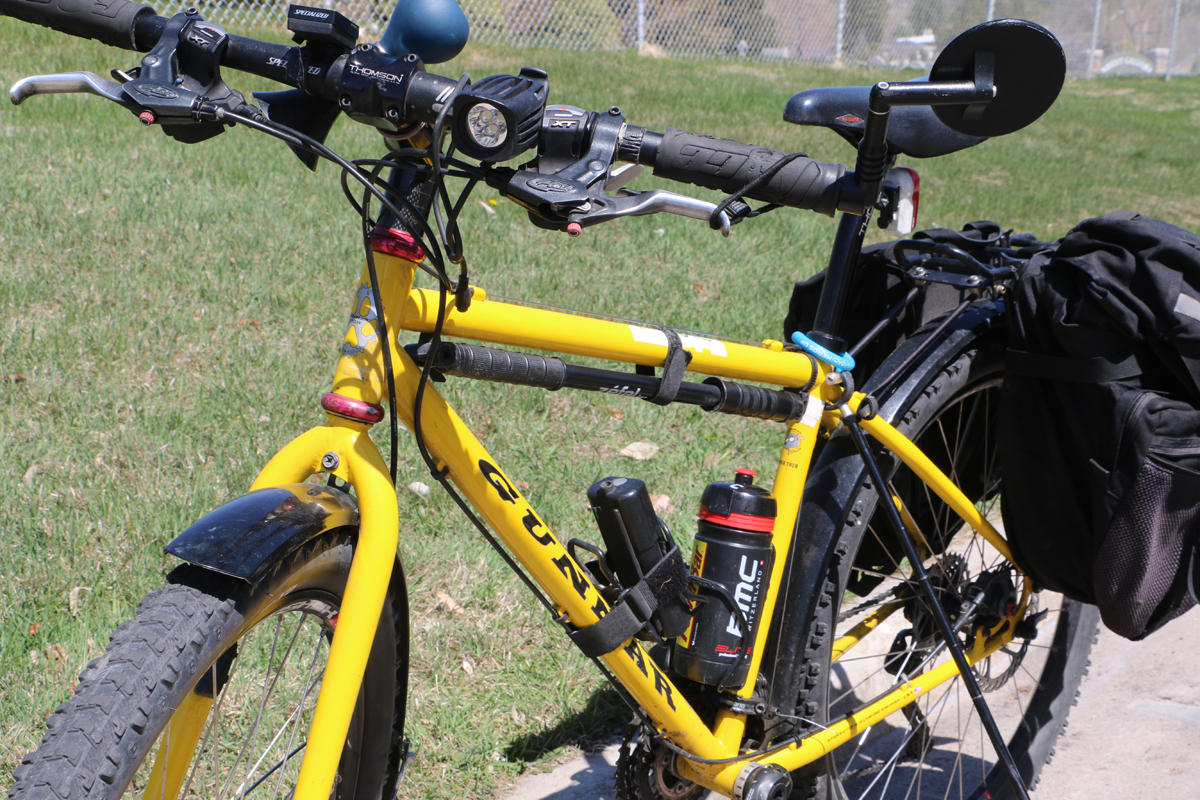 """Any bike can work as a commuter bike. Here, a 26"""" wheel mountain bike is repurposed to make a great commuter bike. Photo by Dave Iltis"""